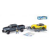 BRUDER RAM 2500 Power Wagon Roadster treileriga