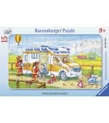 RAVENSBURGER pusle väike lapik Kiirabiauto