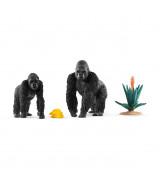 SCHLEICH WILD LIFE Gorillad toiduotsingul