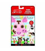 MELISSA & DOUG Make-a-Face korduvkasutatavad kleebised - Farm