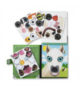 MELISSA & DOUG Make-a-Face korduvkasutatavad kleebised - Lemmikloomad