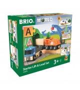 BRIO Raudtee komplekt tõstukiga