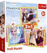TREFL Pusle komplekt 3tk Frozen 2