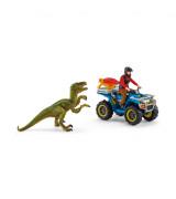 SCHLEICH DINOSAURS Atv-L Põgenemine Velociraptori Eest