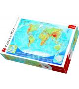 TREFL Pusle 4000 Maailmakaart