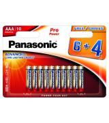 """PANASONIC patareid """"AAA"""" 6 tk pakis + 4 tk TASUTA"""