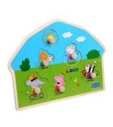 BARBO TOYS Peppa Pig puidust nuppudega pusle - mänguväljak