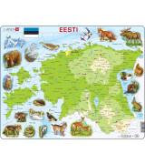 LARSEN Pusle Eesti geograafiline kaart EE