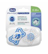 CHICCO Physio Light silikoon lutt, 2tk. Sinine (6-16 kuud)