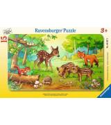 RAVENSBURGER pusle väike lapik Metsloomakesed