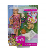 MATTEL BARBIE Doggy Daycare Nukk kutsikatega