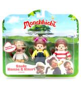 SILVERLIT MONCHHICHI Kolme figuriiga pakk, 7.5 cm
