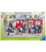 RAVENSBURGER pusle väike lapik Tuletõrjeauto