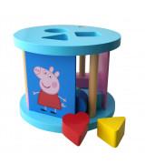 BARBO TOYS Peppa Pig - Puidust kujude sorteerija