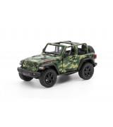 """KINSMART 5"""" 2018 Jeep Wrangler Camo (Open Top), 12 cm"""