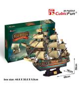 CUBICFUN 3D pusle Hispaania armada: The San Felipe