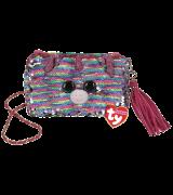 Ty Fashion ELISE - vikerkaarevärvilise ükssarvikuga kandiline käekott