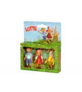 LOTTE Minifiguuride komplekt (Lotte, Bruno ja Albert)