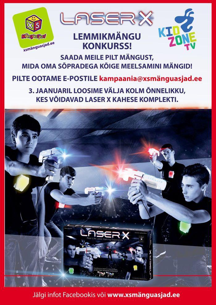 Kidzone Laser X konkurss