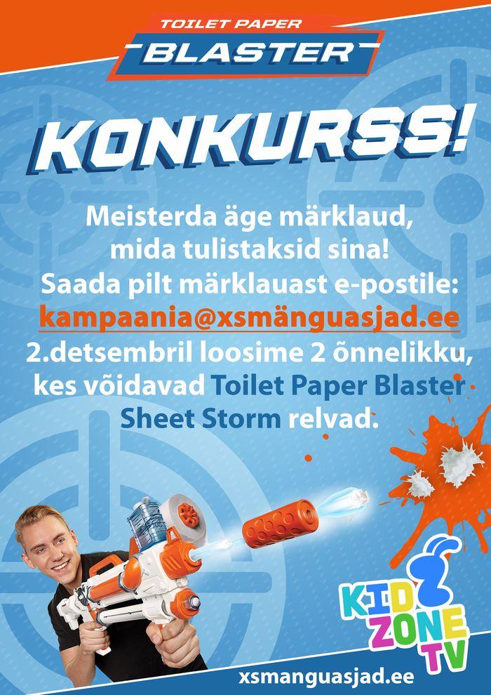Toilet Blaster Kidzone joonistuskonkurss