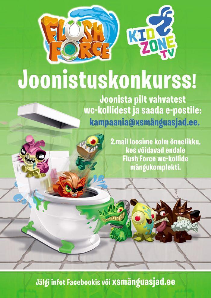 Kidzone Flush Force joonistuskonkurss